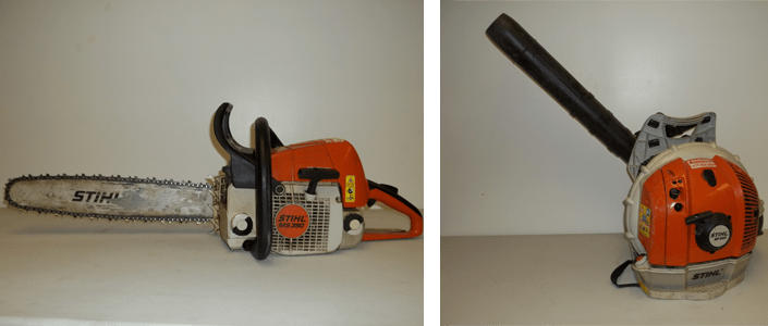 Stihl chainsaw and powerpack blower