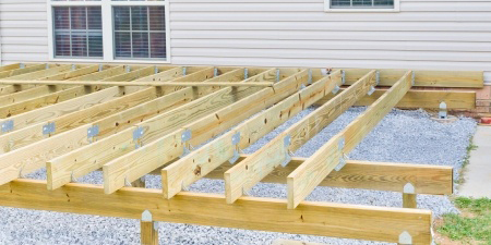 building a new above ground deck, patio construction