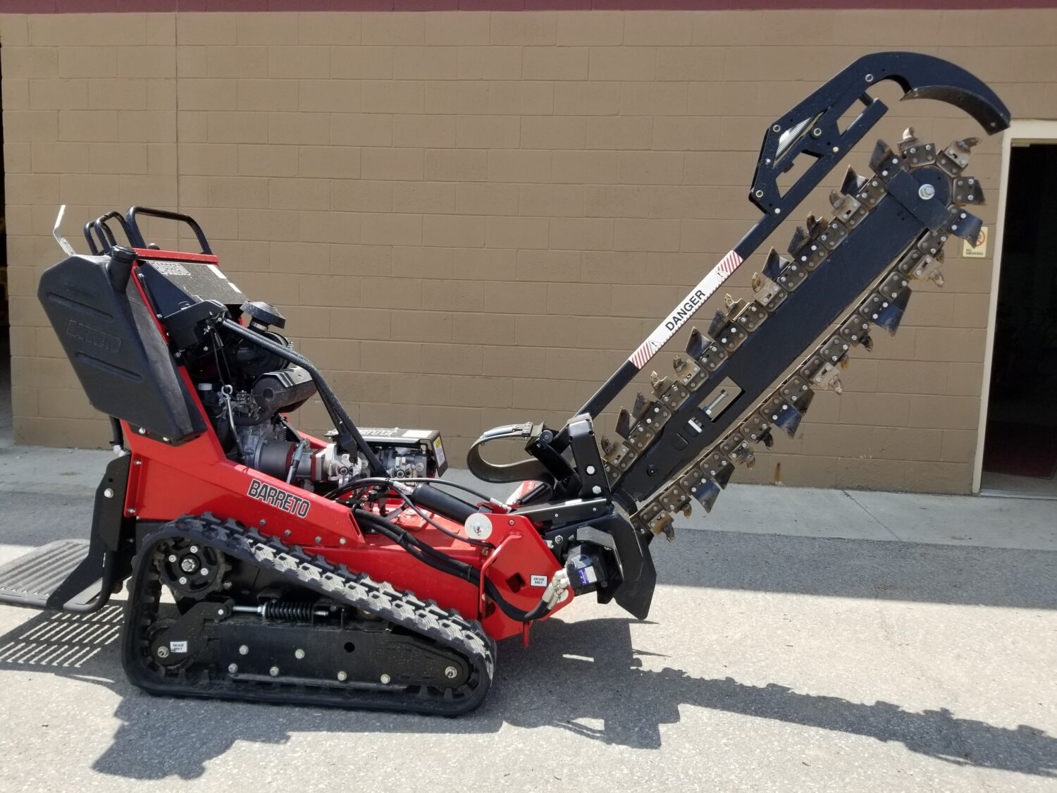 Stand On Track Trencher Equipment